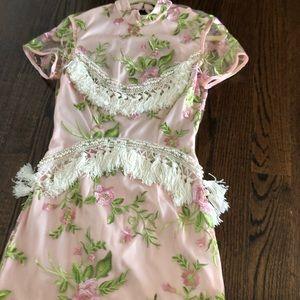 Pretty Little Thing Premium Blush Tassel Dress